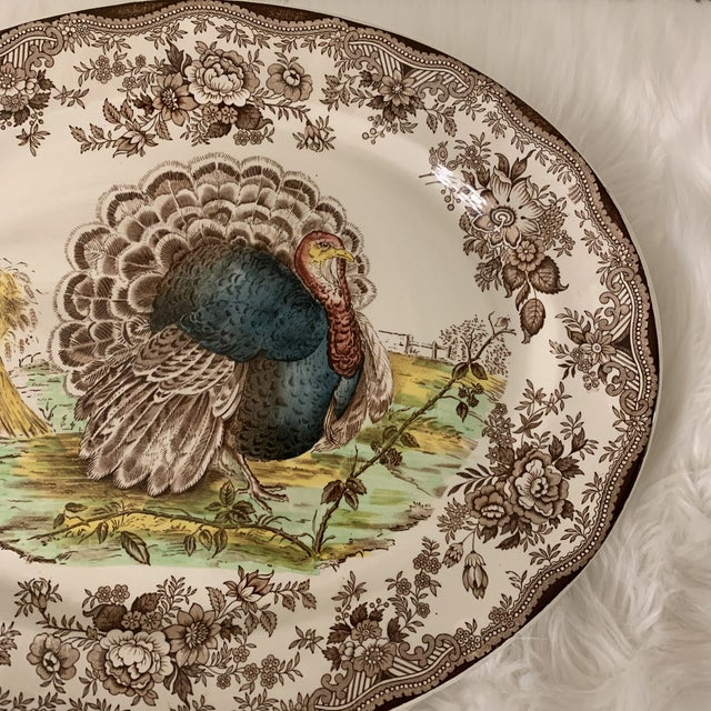 Royal Staffordshire Tonquin Brown Turkey Platter For Sale - Image 4 of 12