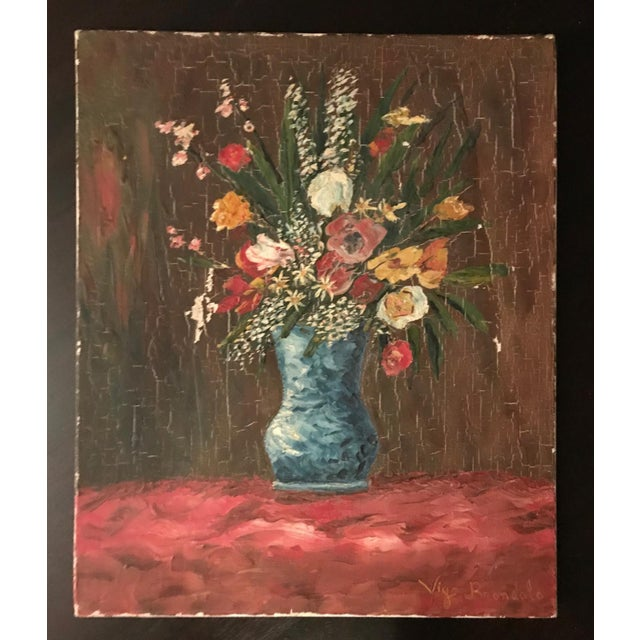 Vintage French Floral Still Life - Image 4 of 4