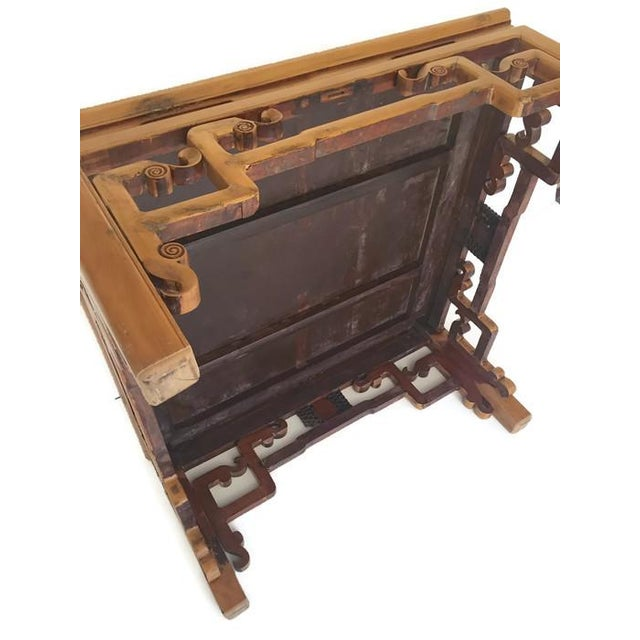 Brown Vintage Carved Chinese Tibetan Coffee Table For Sale - Image 8 of 11