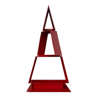 Red Abstract Sculpture For Sale