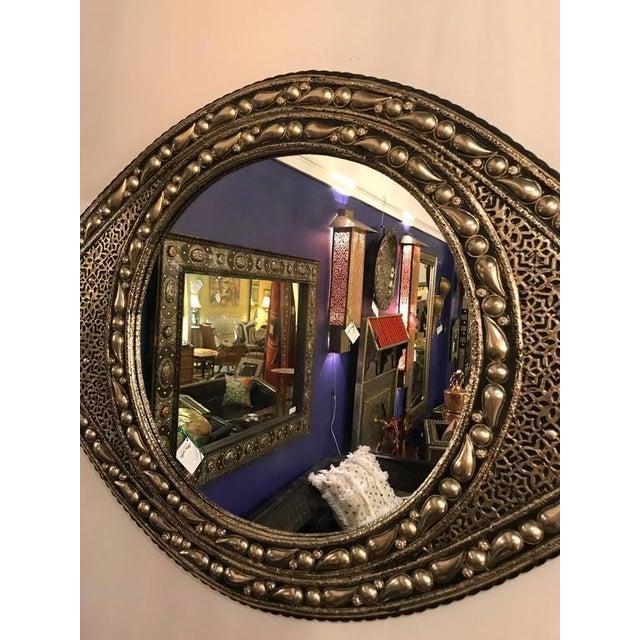 Eye Ball Form Art Deco Style Metal Wall Mirror - Image 3 of 10