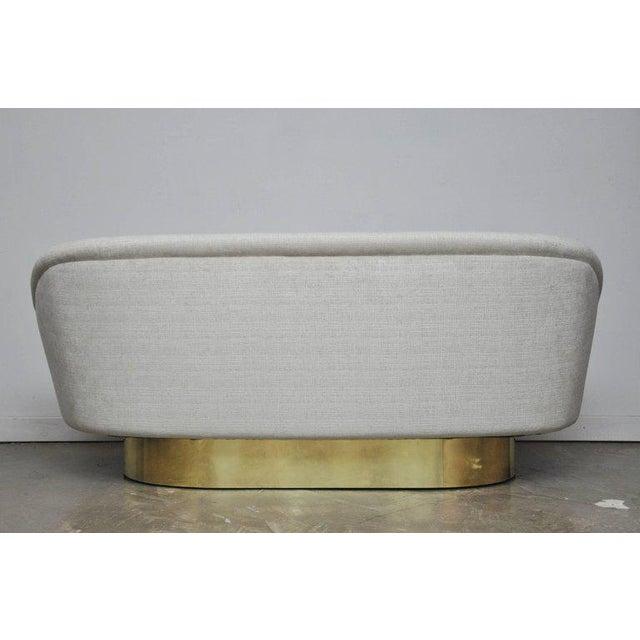 Brass Vladimir Kagan Crescent Sofa on Brass Base For Sale - Image 7 of 8
