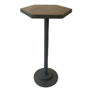 Modern Artisan Small Accent Table Black For Sale