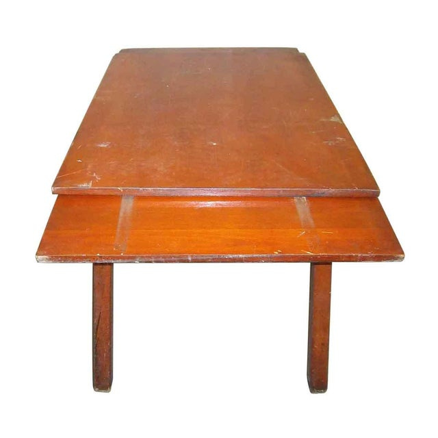 Distressed Adjustable Dining Table For Sale - Image 4 of 5