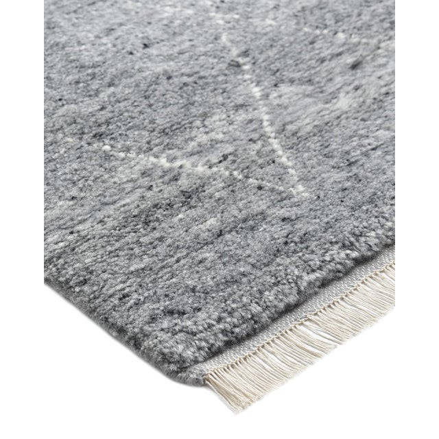 Color: Gray - Made In: India. Moroccan rugs such as Beni Ourains and boucherouites are highly prized for their plush pile...