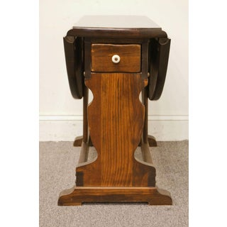 Ethan Allen Antiqued Pine Old Tavern Butterfly Drop Leaf Accent End/ Side Table Preview