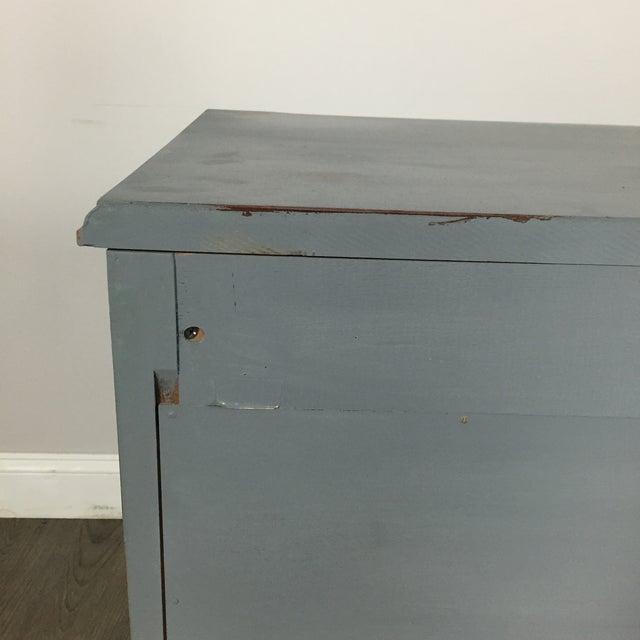 Vintage Gray-Blue Credenza - Image 11 of 11