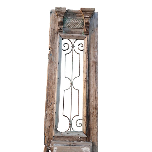 Antique French Doors Large Architectural Iron Grill Doors A Pair