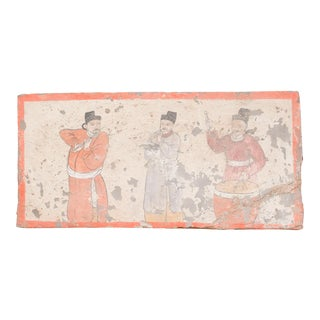 Mongolian Musicians Liao Dynasty Style Mural Tile For Sale