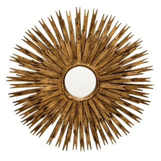 Vintage Spanish Sunburst Mirror For Sale