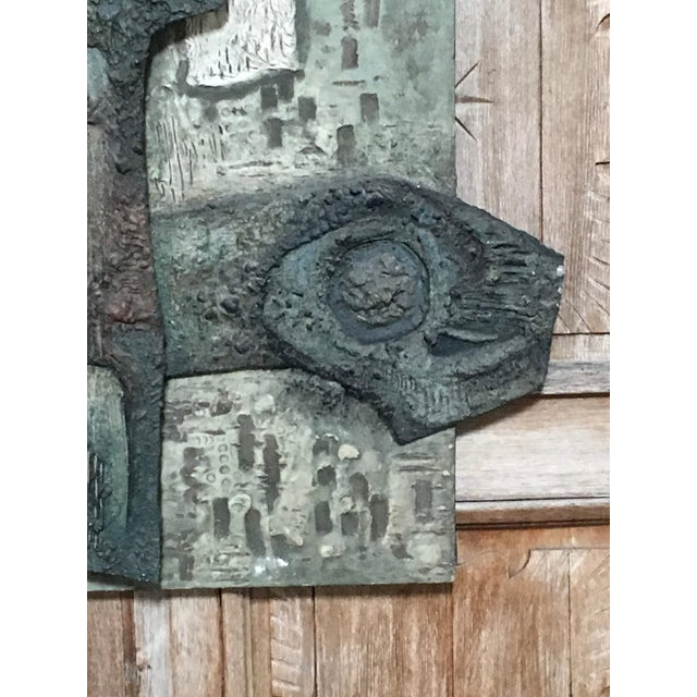 Mid 20th Century Laurent Jimenez Balaguer Brutalist Abstract High Relief Panel For Sale - Image 5 of 13