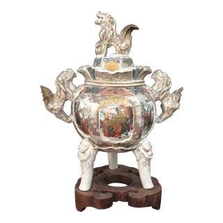 1870 Japanese Satsuma Incense Urn For Sale