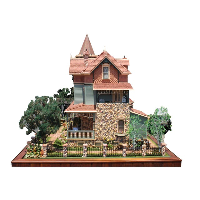 A massive dollhouse from the los Angeles Heritage Museum on Southern California Historical homes. The well intricately...
