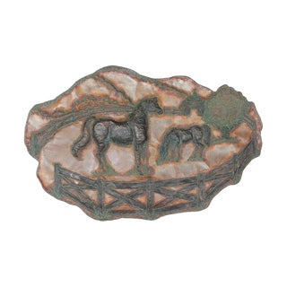 20th Century Handmade Copper Wall Sculpture For Sale