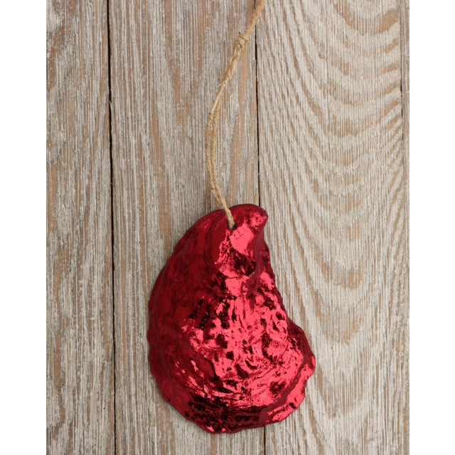 Not Yet Made - Made To Order Red Gilded Oyster Shell Ornaments, Set of 6 For Sale - Image 5 of 8