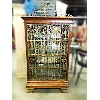 Baroque Iron Cherry Display Curio China Cabinet Preview