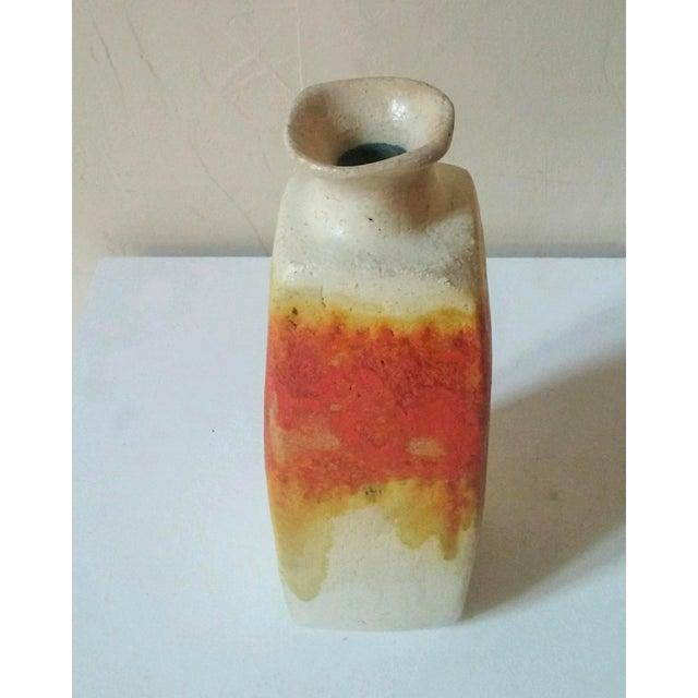 Fantoni Circa 1950 Marcello Fantoni Squared Vase For Sale - Image 4 of 7