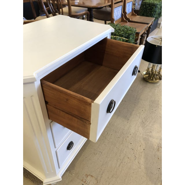White Painted Chest of Drawers Nightstand For Sale In Philadelphia - Image 6 of 10