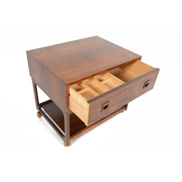 Danish Modern Rosewood Sewing Box - Image 3 of 10