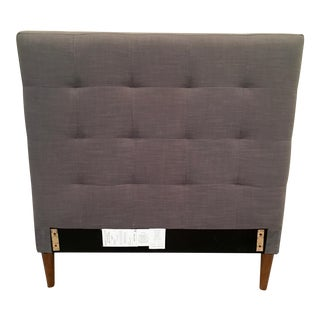 Grid-Tufted Upholstered Tapered Leg Bed