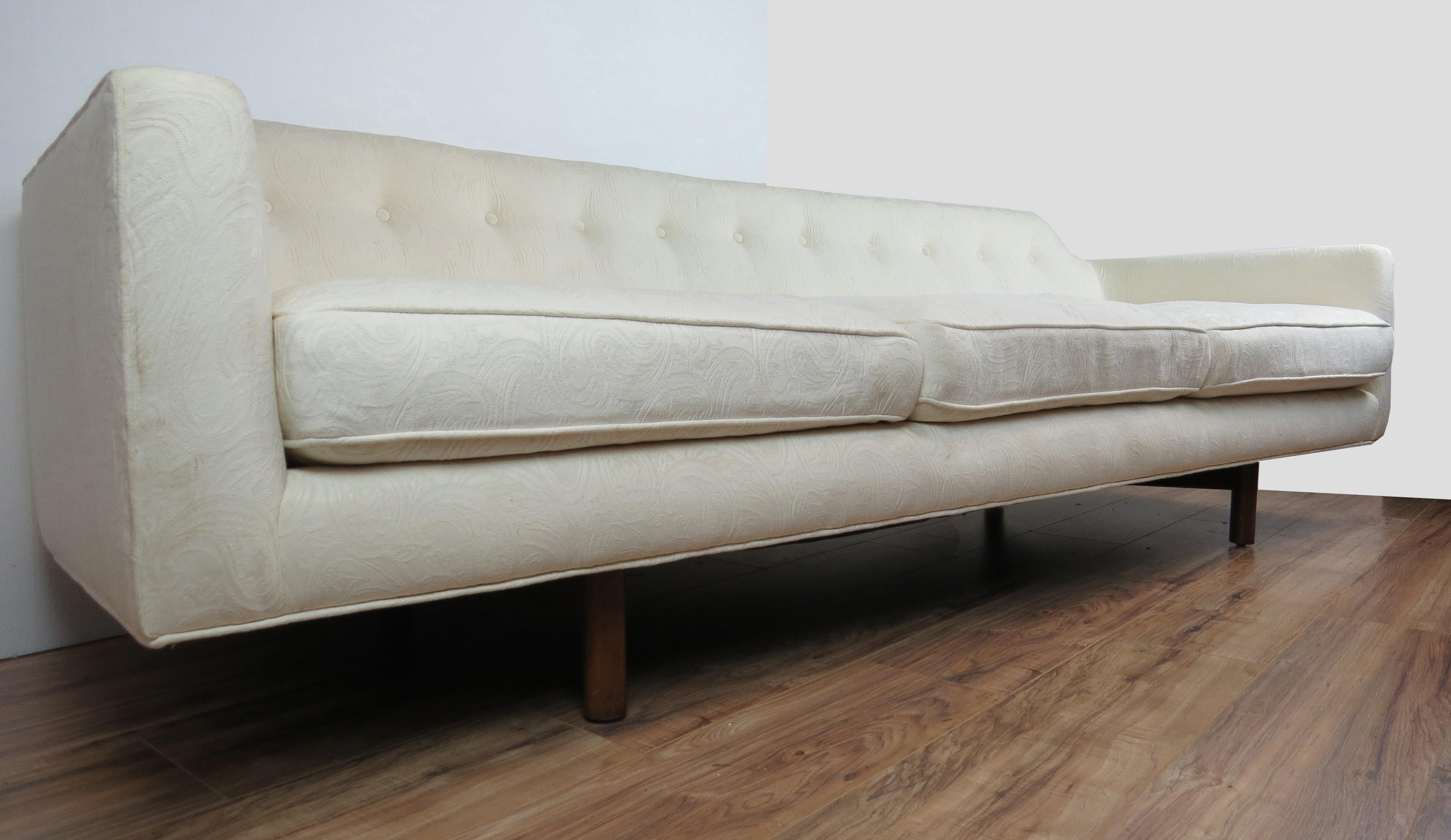 Edward Wormley For Dunbar Mid Century Modern White Curved Corner