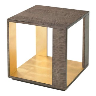 Modern Sycamore Square End Table For Sale