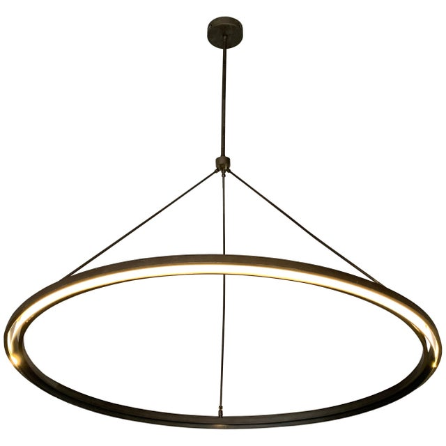 Peralta Round Chandelier by Jon Sarriugarte For Sale - Image 13 of 13