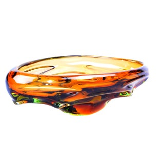 Murano Amber Bowl For Sale