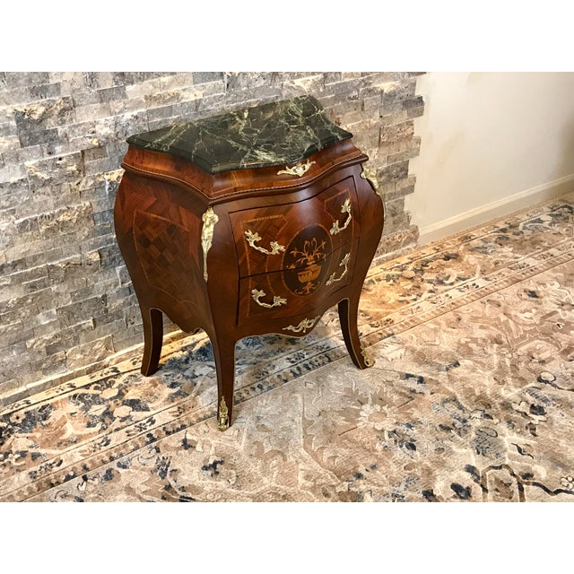 Louis XV Empire Marble Top Side Table For Sale - Image 4 of 10