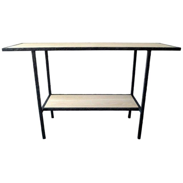 20th Century Contemporary Bleached Oak Wood Console For Sale