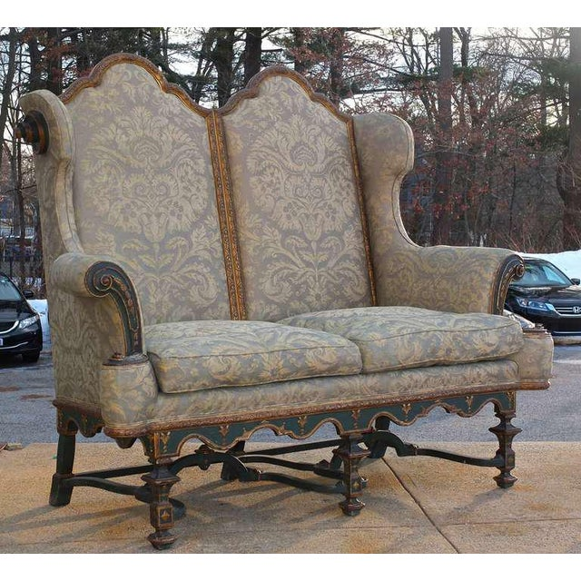 Gothic Fantastical Fortuny Gothic Settee For Sale - Image 3 of 5