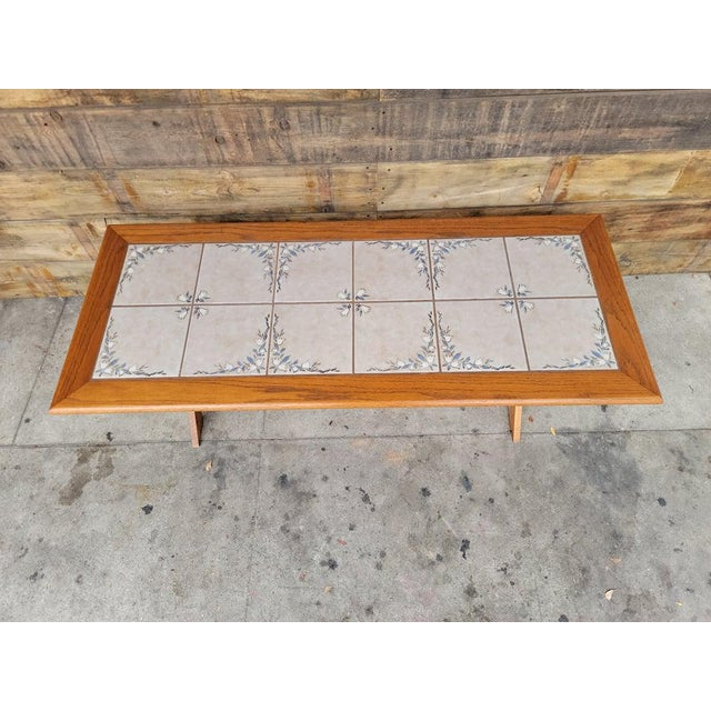 Coffee 1980s Vintage Tile Top Coffee Table For Sale - Image 8 of 13