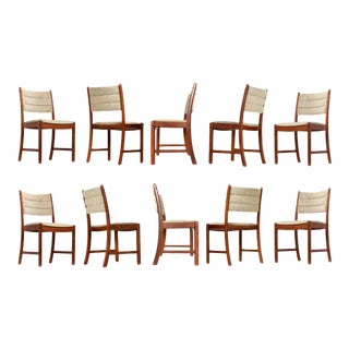 1960s Johannes Andersen Teak Dining Chairs 7171 for Uldum Møbelfabrik Set of Ten For Sale
