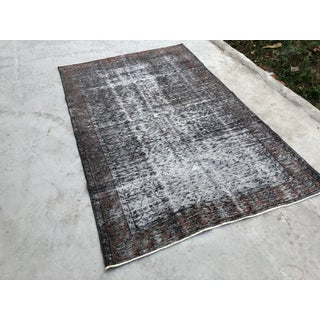 1960s Turkish Oushak Distressed Gray Wool Rug Preview