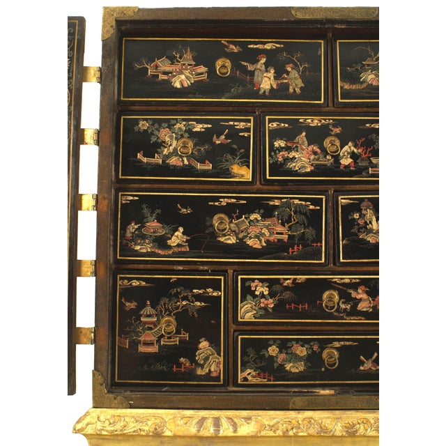 17th Century 17th Century Chinese Coromandel Cabinet on a Charles II Gilt-Wood Stand For Sale - Image 5 of 12