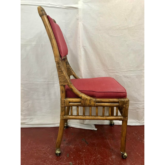 Bamboo Dining Chairs Set of 8 For Sale - Image 11 of 13