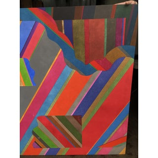 Large 1970s Graphic Hardedge Geometric Painting by Roland Ginzel Preview