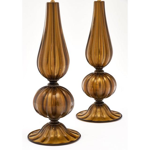 Murano Glass Pagoda Lamps For Sale - Image 4 of 10