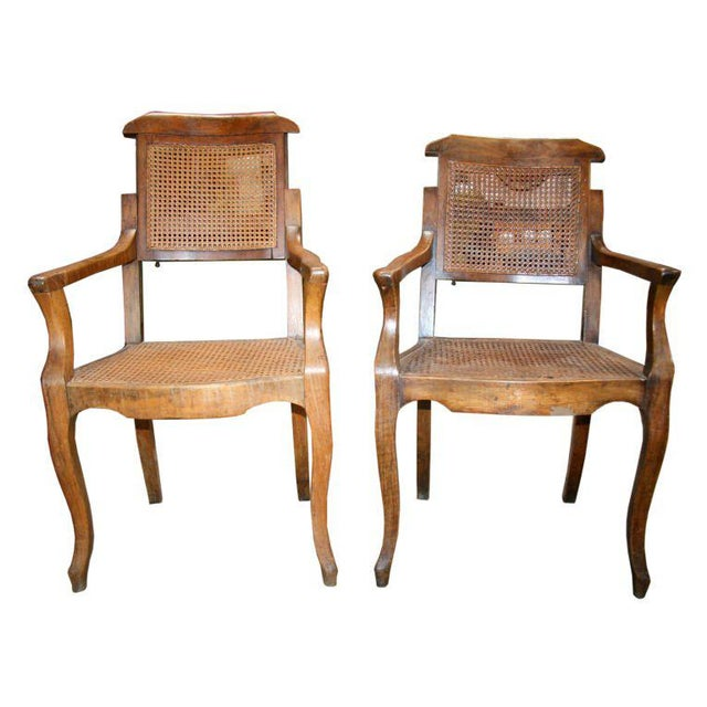 Pair Antiques Walnut Barber Chairs - Image 10 of 10 - Distinguished Pair Antiques Walnut Barber Chairs DECASO