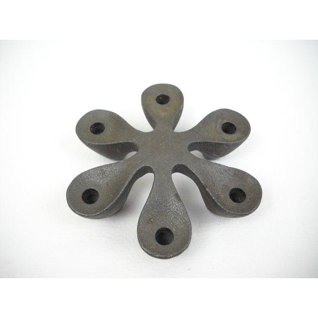 Dansk Attri Mid-Century Iron & Enamel Candleholder - Image 2 of 9