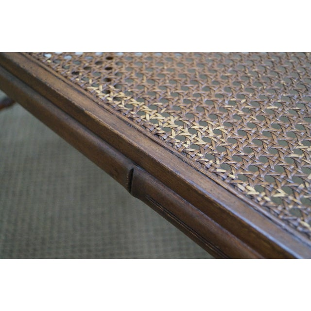 Chinese Chippendale Faux Bamboo Cane Seat Bench For Sale In Philadelphia - Image 6 of 9