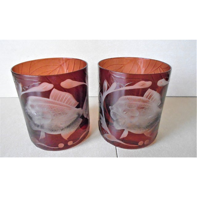 1990s Arte'l Jungle Baroque Double Old Fashion Glasses - a Pair For Sale - Image 5 of 5