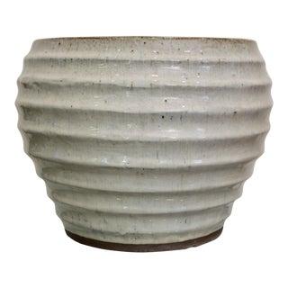 Large Wabi Sabi Glazed Pottery Modernist Planter