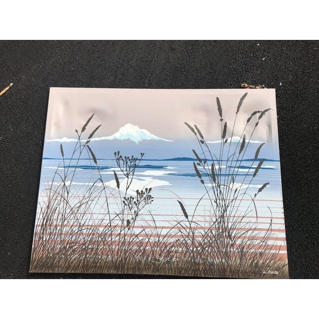 Blue 1970s Vintage Lee Richards Seascape Oil Painting For Sale - Image 8 of 8
