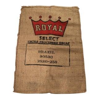 Vintage Brazil Coffee Bag For Sale