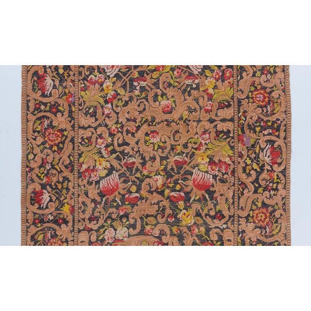 Black Ground Oversized Karabagh Long Rug For Sale - Image 4 of 6