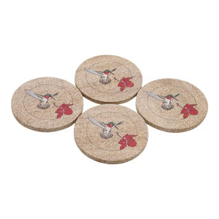 Sandstone Hummingbird Coasters - Set of 4 For Sale