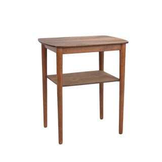 1960s Danish Modern Walnut Accent Table For Sale