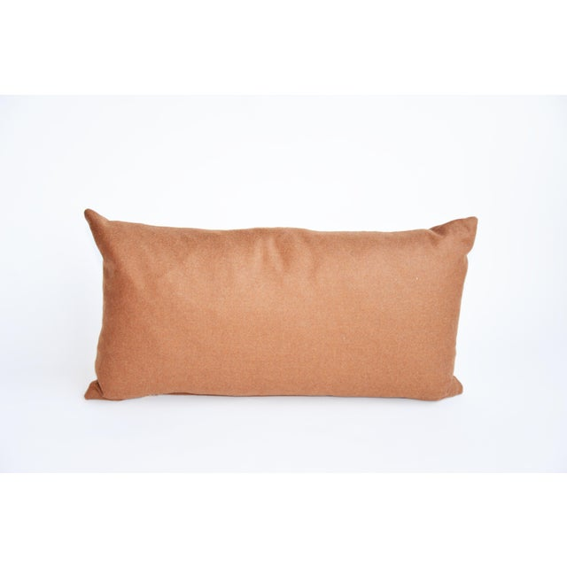 Contemporary Rust Wool Kidney Pillow For Sale - Image 3 of 3