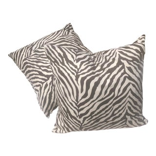 Animal Print Outdoor-Indoor Pillow Covers - a Pair, Custom Made For Sale